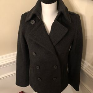 J. Crew Charcoal Peacoat with Thinsulate.